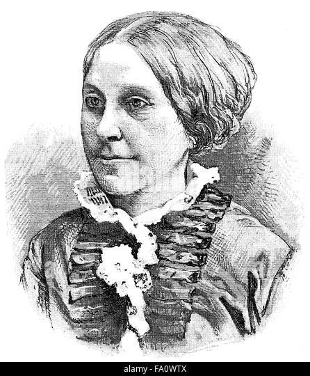 Johanna Leitenberger, 1818-1893, a German poet, - Stock-Bilder