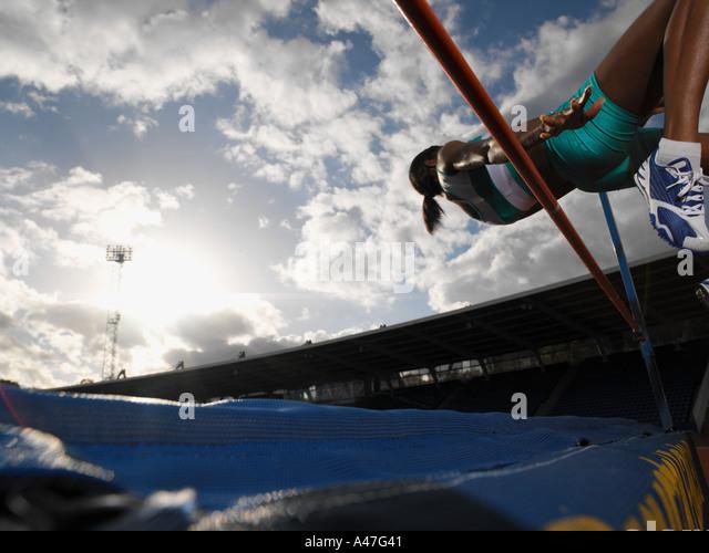 Female high jumper - Stock Image