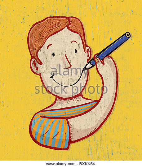 Drawing on  Smile - Stock Image