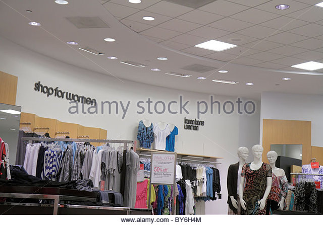 Miami Florida Aventura Aventura Mall Bloomingdale's department store shopping clothing women's - Stock Image