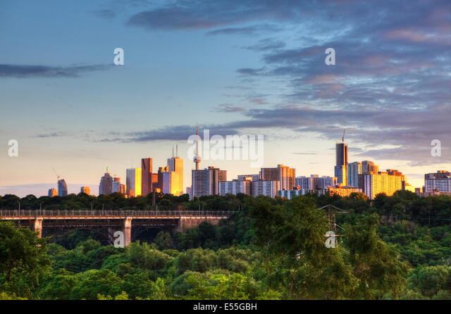 Toronto, Ontario, Canada, cityscape at dusk - Stock Image