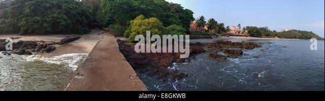 India, Goa, View of Vainguinim Beach - Stock-Bilder