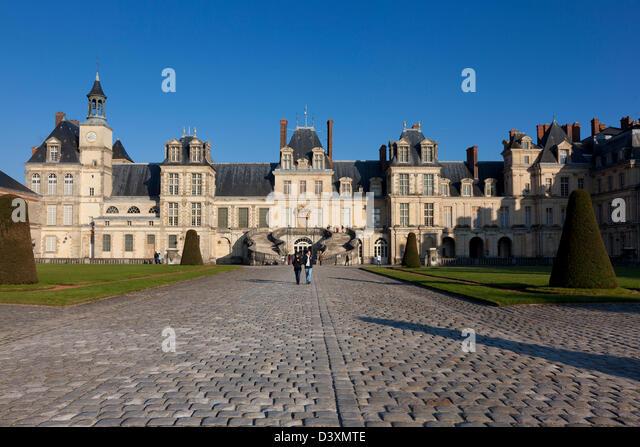 Fontainebleau castle, Seine et marne, Ile de France, France - Stock Image