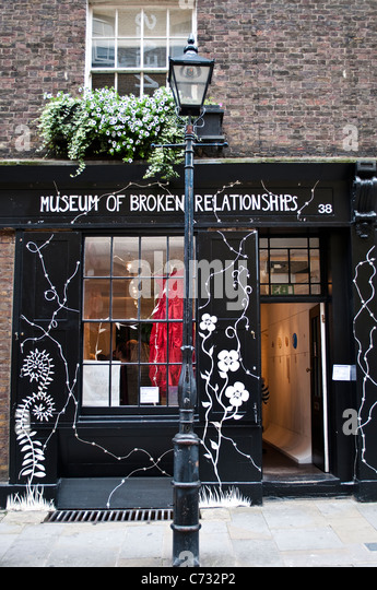 Museum of Broken Relationships, Earlham Street, Covent Garden, London, UK - Stock Image