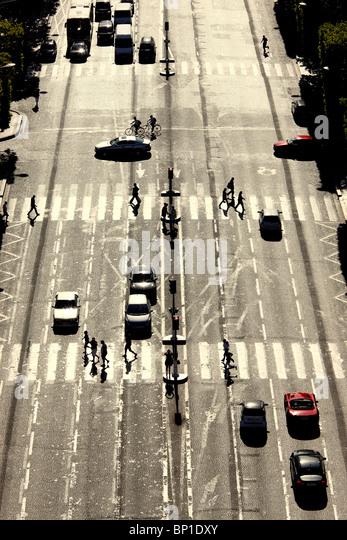 France, Paris, Champs-Elysées - Stock Image