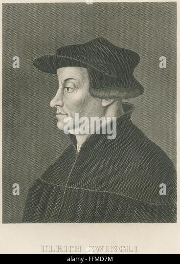 Ulrich Zwingli, circa 1850 - Stock-Bilder