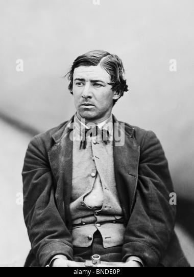 Conspirator David Herold in irons after the assassination of US President Abraham Lincoln in April 1865 - Herold - Stock Image