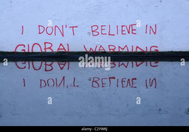 Graffiti on the Regent's Canal, Camden, London - Stock Image