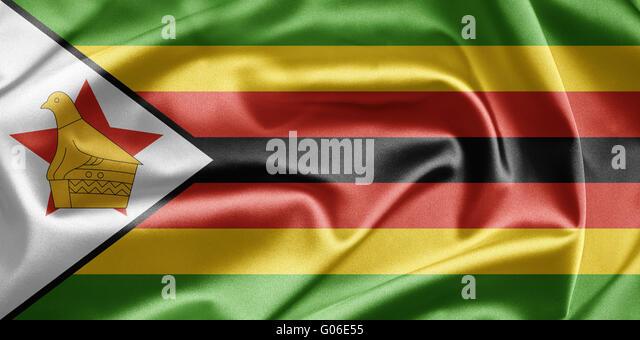 Flag of Zimbabwe - Stock Image