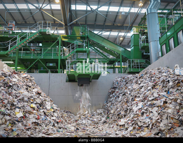 Paper Recycling Machine - Stock Image