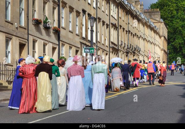 Bath, Jane Austen Festival, Parade, Somerset, England, United Kingdom - Stock Image