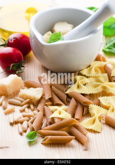 Mixed pasta - Stock Image