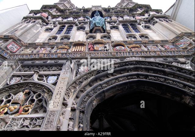 Christchurch Video Detail: Detail Christchurch Gate Canterbury Cathedral Stock Photos