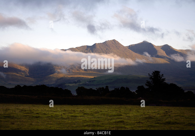 MacGillycuddy's Reeks, Killarney National Park, Iveragh Peninsula, County Kerry, Munster, Republic of Ireland, - Stock Image