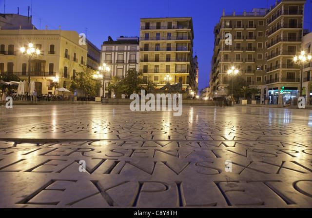 Plaza de la Virgin, Valencia, Spain - Stock Image