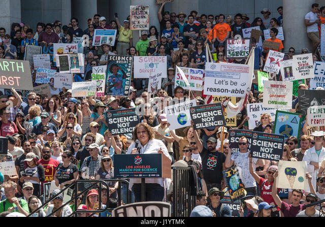 Los Angeles, USA. 22nd April, 2017. March for Science, Downtown Los Angeles, Earth Day, April 22, 2017 Credit: Citizen - Stock Image