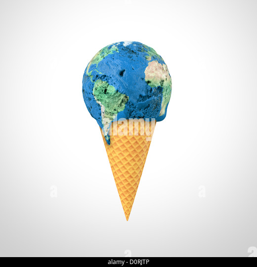 World ice cream - Stock Image