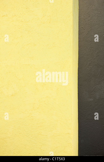 Stucco wall, close-up - Stock Image
