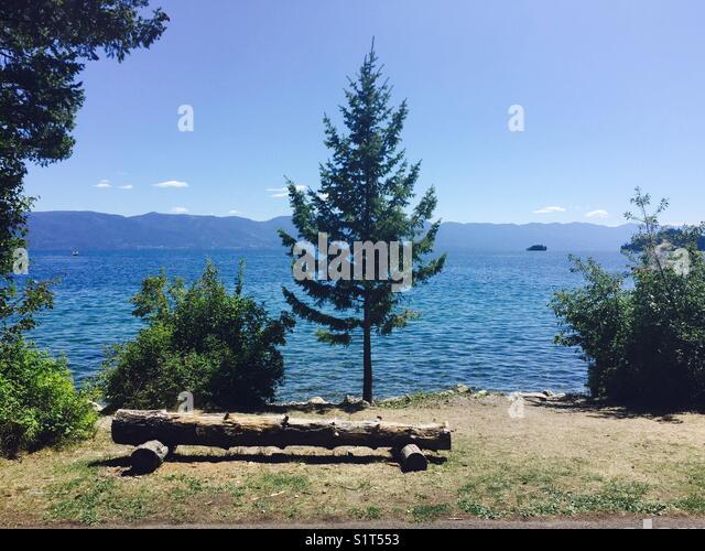 Flathead Lake Montana - Stock Image