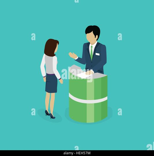 Isometric consultation icon isolated design flat. 3D business consulting services, consulting icon, business support - Stock-Bilder