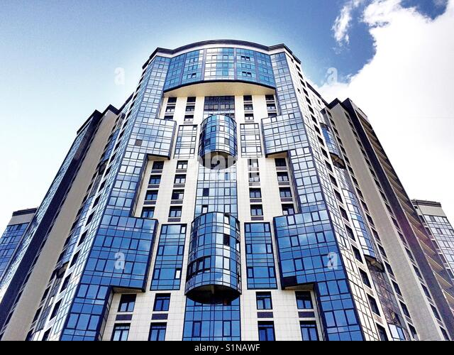 Building in blue - Stock Image