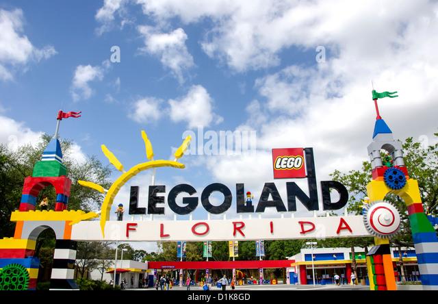 Legoland Florida main park entrance winter haven fl - Stock Image