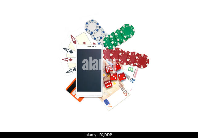 smartphone gambling - Stock Image