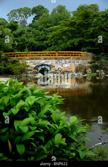 The Morikami Museum and Japanese Gardens is a center for Japanese arts in Palm Beach County Florica. - Stock Image