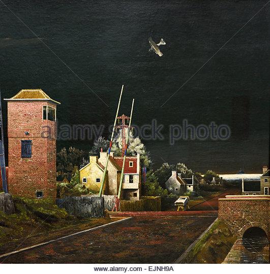 Todessturz Karl Buchstätters, 1928 The Fatal Crash of Karl Buchstätter by Franz Radziwill 1895-1983 German - Stock Image