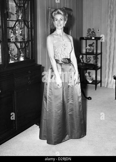 Mrs Cornelius V Whitney Wears Million Dollar Necklace, 1965 - Stock Image