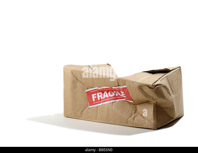Beat up Cardboard Box - Stock Image
