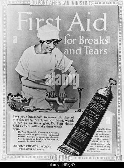 Advertisement for glue stock photos advertisement for for Household cement