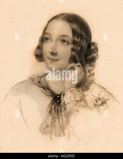 The Honourable Matilda Paget 1837 1855 Maid of Honour to Queen Victoria Drawn by J Hayter engraved by B Eyles - Stock Image
