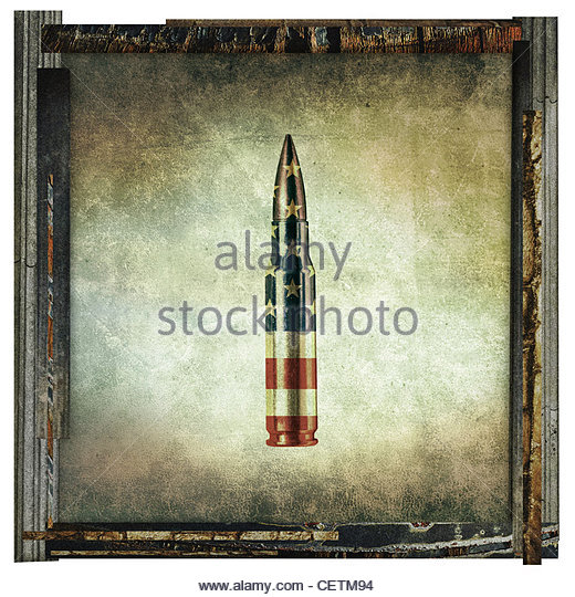 american bullet print - Stock-Bilder