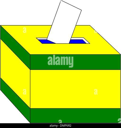 Ballot box - Stock Image