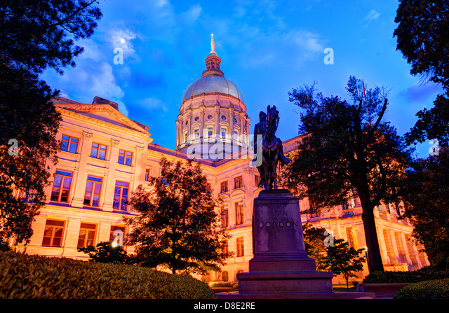 Georgia State Capitol Building in Atlanta, Georgia, USA. - Stock-Bilder