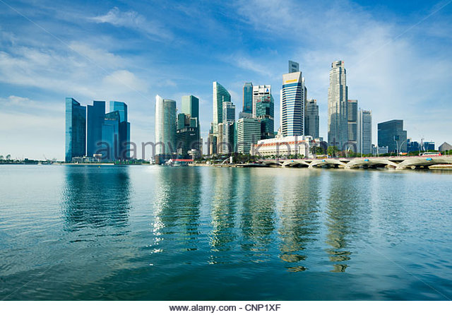 The city skyline, Singapore. - Stock-Bilder