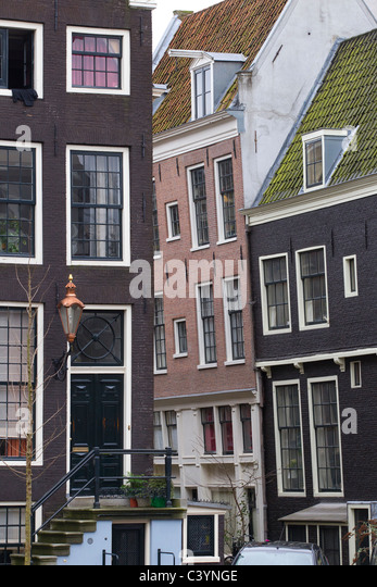 houses architecture amsterdam holland netherlands - Stock Image