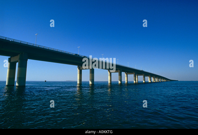 The King Fahd Causeway between Bahrain and Saudi Arabia - Stock Image