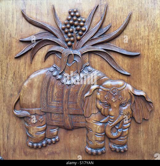 Elephant door stock photos images