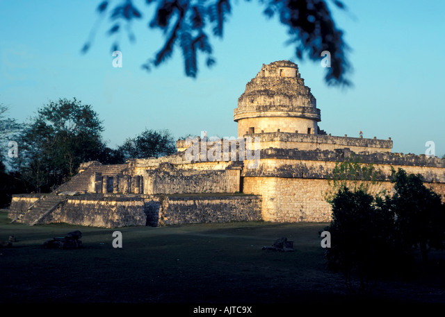 The Observatory or Caracol, Chichen Itza, Mexico - Stock Image