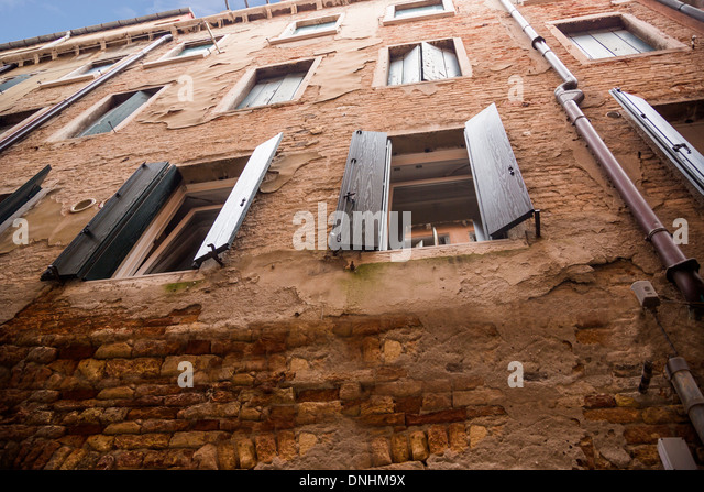 Low angle view of a residential building, Venice, Veneto, Italy - Stock-Bilder