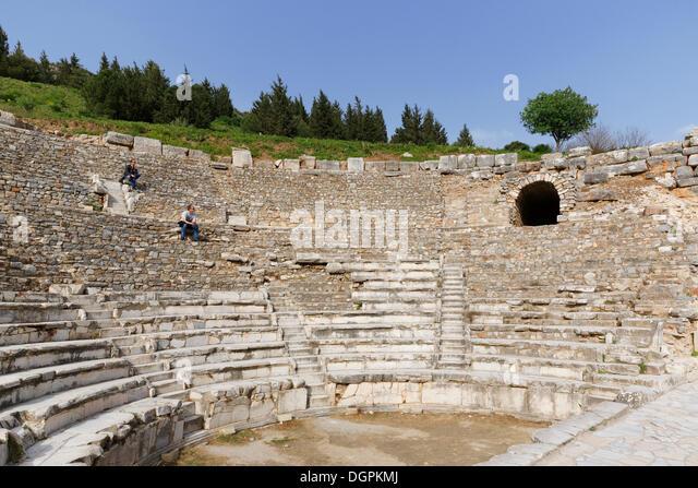 Odeion or Odeon, small theatre, Ephesus, Selçuk, İzmir Province, Aegean Region, Turkey - Stock Image
