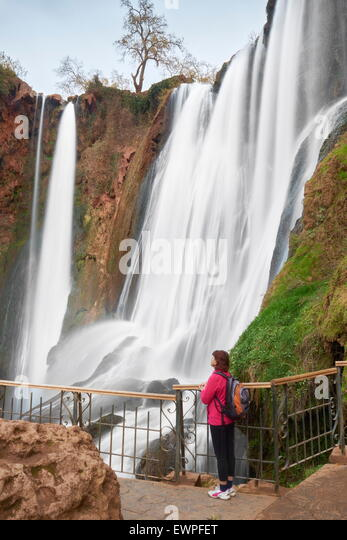 Ouzoud Waterfall, High Atlas, Morocco, Africa - Stock Image