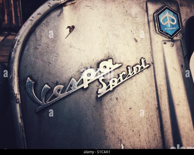 Vespa Sprint front view detail - Stock-Bilder