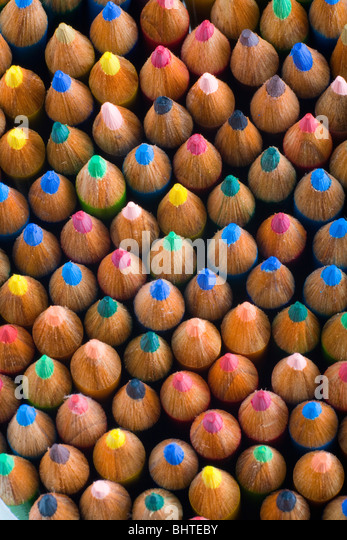 Bunch of color pencils - Stock Image