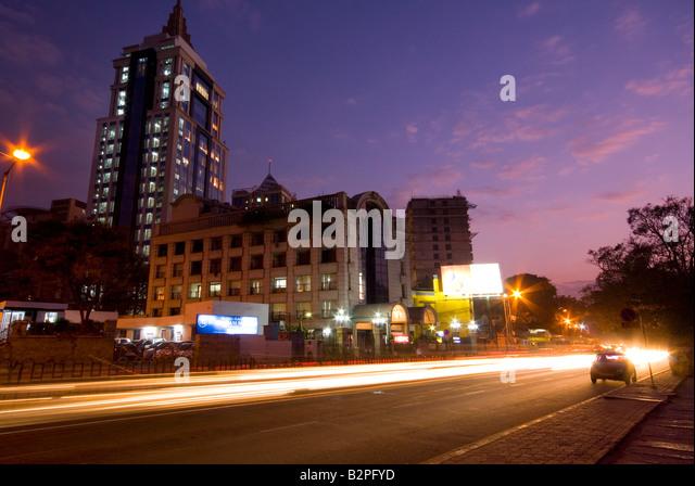 MG Road Area, Shanthala Nagar, Bengaluru (Bangalore), South Karnataka, India - Stock-Bilder