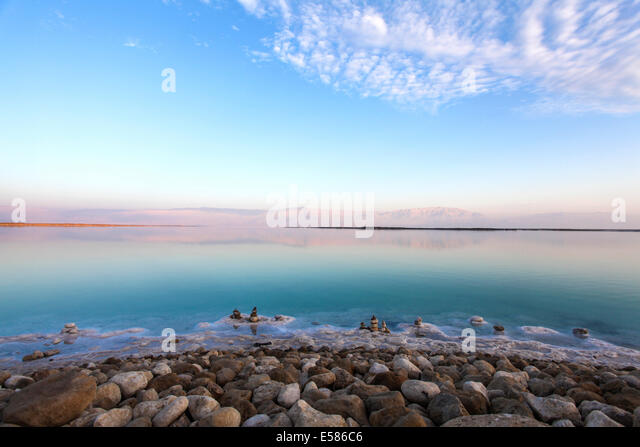 Israel, Dead Sea landscape view - Stock Image