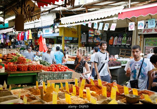 Shuk HaCarmel market, Tel Aviv, Israel, Middle East - Stock Image