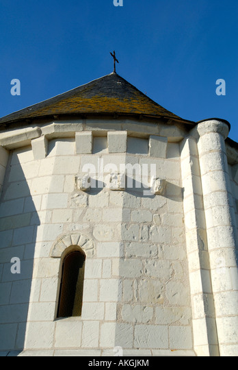 Saint Hilaire church, Arpheuilles, Indre, France. - Stock Image
